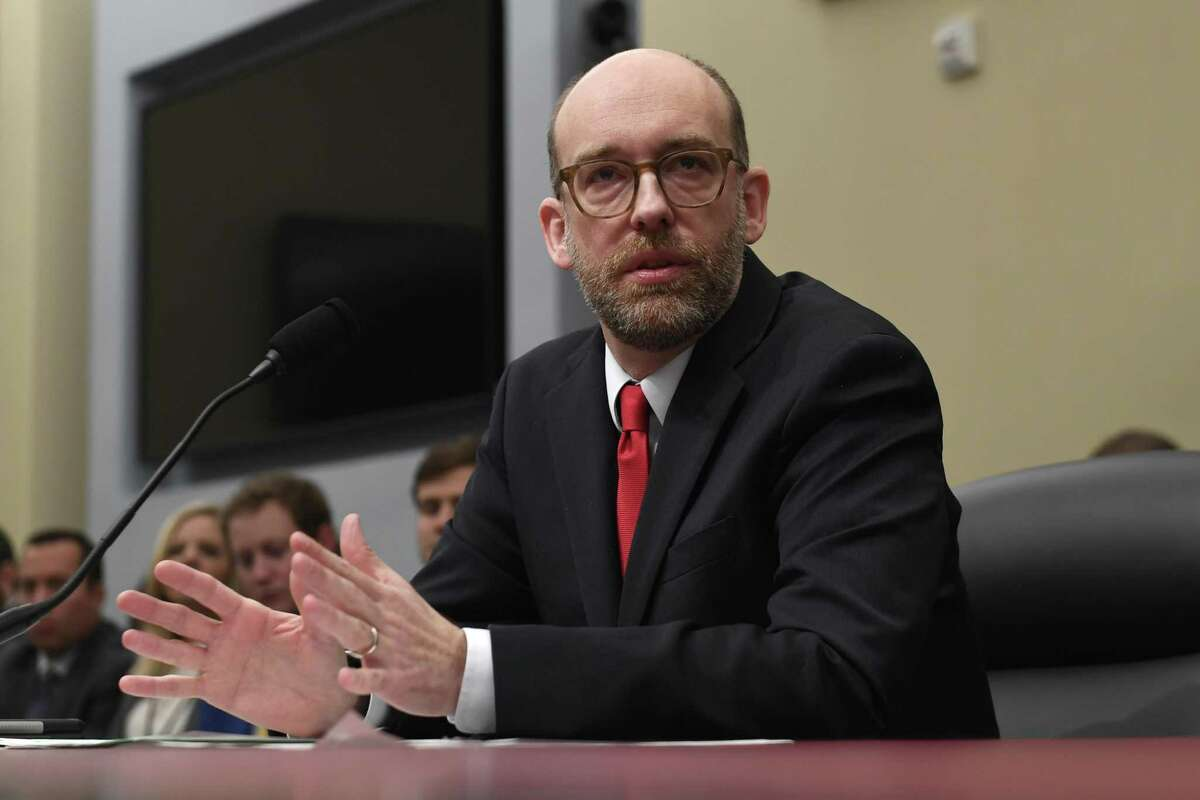 Office of Management and Budget Acting Director Russell Vought testifies before the House Budget Committee on Capitol Hill in Washington, Tuesday during a hearing on the fiscal year 2020 budget.