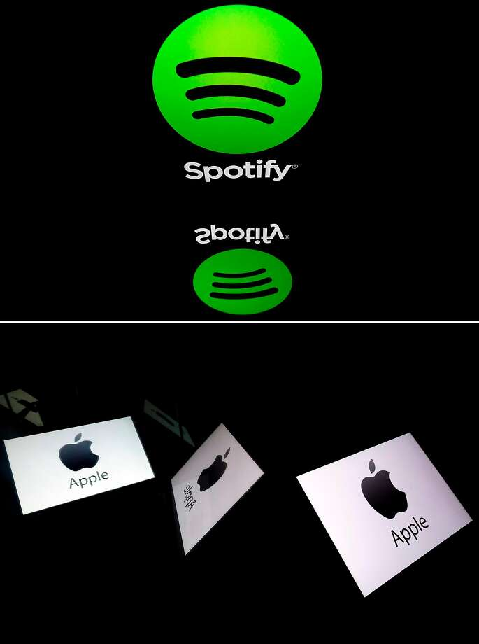 Spotify has filed a complaint with the European Commission, alleging that Apple engages in noncompetitive practices, stifling competition in the online music market. Photo: Lionel Bonaventure / AFP / Getty Images
