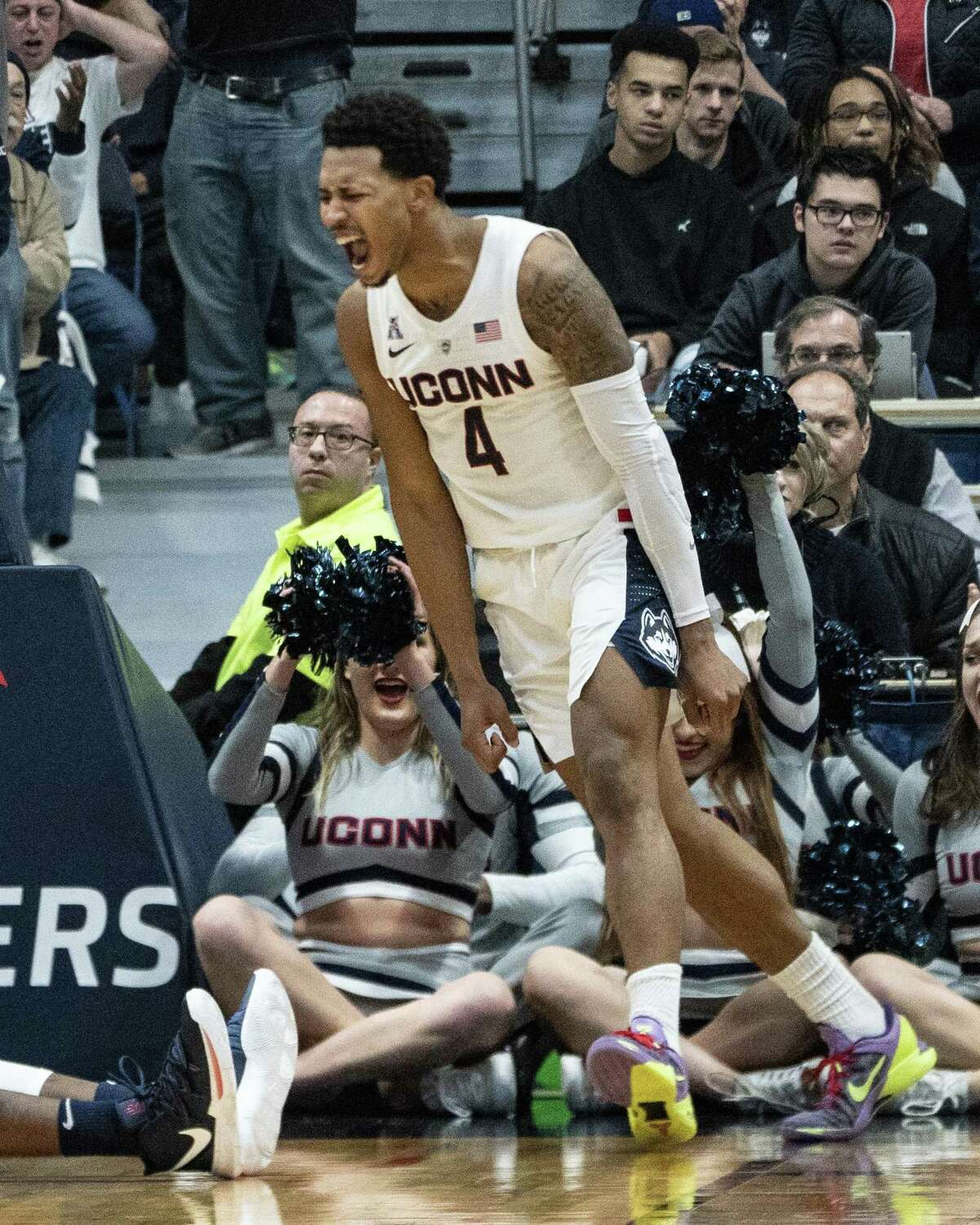 Although undrafted, UConn's Jalen Adam signed with the Golden State Warriors.