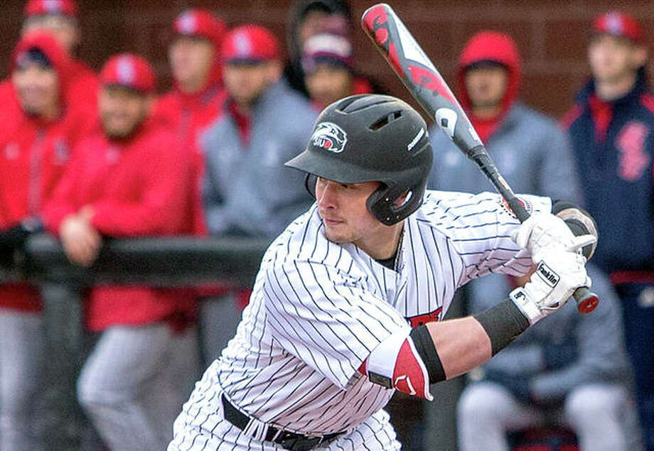 SIUE's Dustin Woodcock went 3-5 with three doubles, two RBIs, two runs scored in his team's 16-9, eight-inning loss to Illinois state Wednesday in Edwardsville. He also picked up an outfield assist. Photo: SIUE Athletics