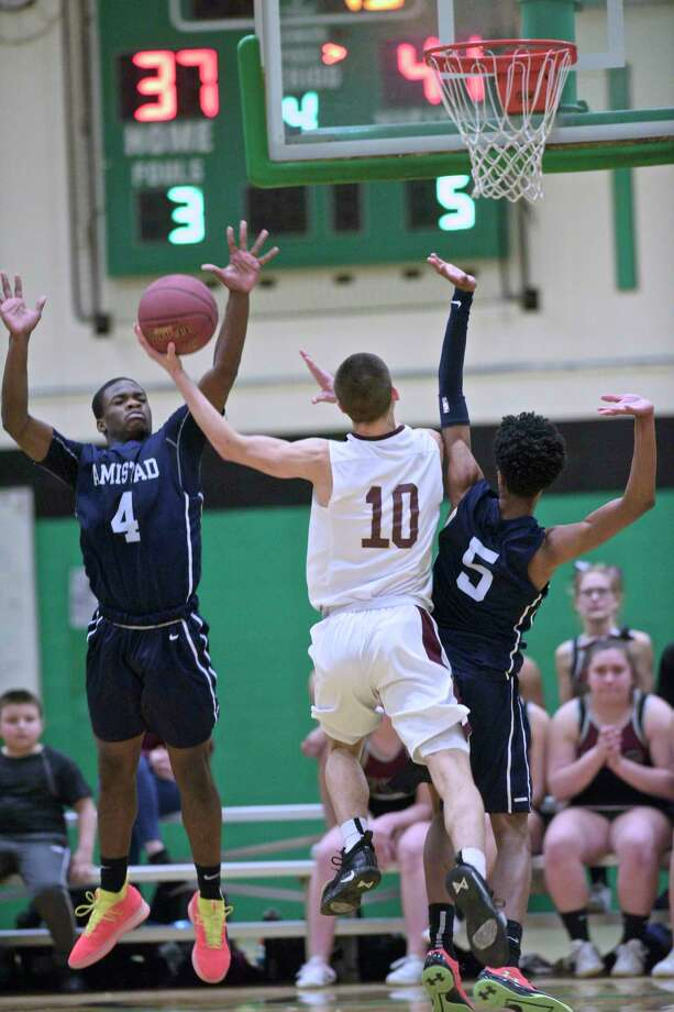 CIAC Division III boys basketball semifinal game between Amistad and Torrington high schools, Wednesday, March 13, 2019, at Wilby High School, Waterbury, Conn. Photo: H John Voorhees III, Hearst Connecticut Media / The News-Times