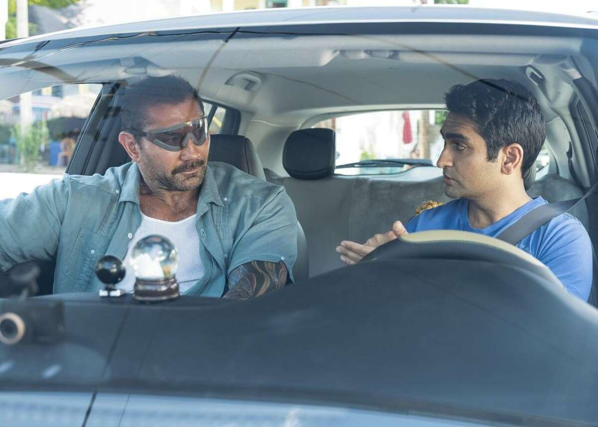 """StuberRelease date: July 12, 2019 Silicon Valley star Kumail Nanjiani portrays a timid Uber driver named Stu hoping for a normal route with a pleasant rider. Of course, that's not what happens. """"Compton!"""" the burly passenger squawks when asked for his address. Turns out, he's a cop played by Guardians of the Galaxy's Dave Bautista, and he needs a ride along, err, drive along buddy. Stu desperately tries to keep his his 5-star rating and his sanity as the two embark on a violently rollicking adventure."""
