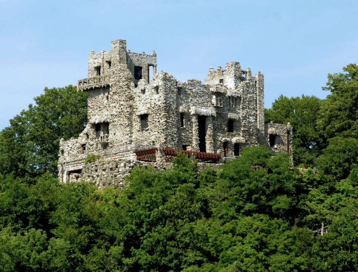 7/25/07 4Gillette ML0377 Gillette Castle, high above the CT River in East Haddam. Photo by Mara Lavitt