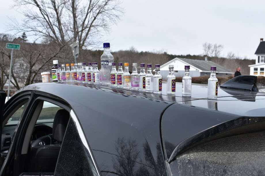 Albany County Sheriff's deputies stopped Jason A. Ostapczuk for speeding in New Scotland on March 13, 2019. A subsequent search of the vehicle turned up numerous liquor bottles, deputies said.  (Albany County Sheriff's Office) Photo: Albany County Sheriff's Office