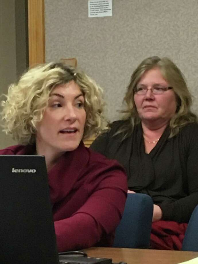 East Haven Superintendent of Schools Erica Forti meets with the Board of Education to discuss the Board of Education's proposed 2019-20 budget March 13, 2019 Photo: Mark Zaretsky / Hearst Connecticut Media File