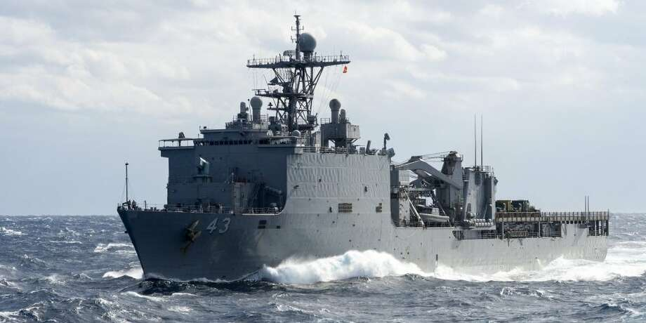 A rare virus outbreak at sea has left a US Navy warship