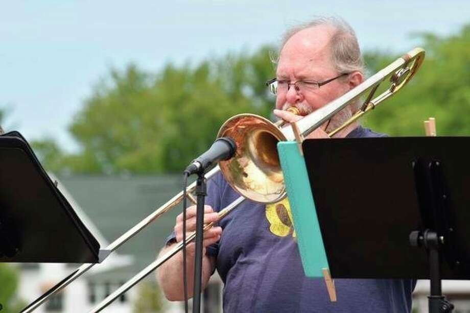 Don Starks became a teacher because he loved music, and he wanted to pass that passion on to others at Owen-Gage. Although he can play all of the instruments in the band, there are three he says he plays well. (Courtesy Photo)