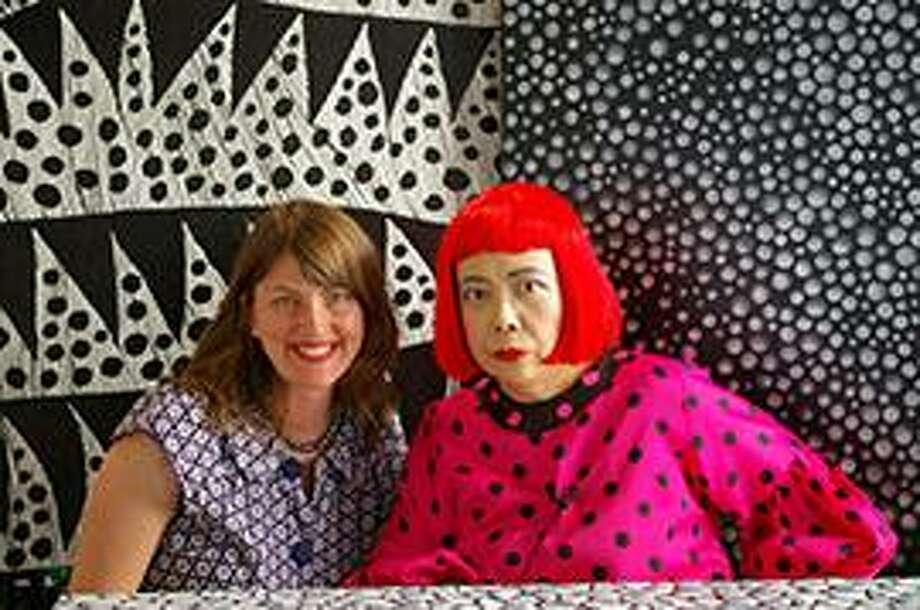 "Yayoi Kusama, right, with ""Kusama - Infinity"" director Heather Lenz. Photo: Magnolia Pictures / Contributed Photo"