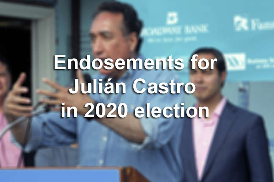 Many San Antonio figures have already voiced support for former Mayor Julián Castro in the 2020 presidential election. Click ahead to see who. Photo: EDWARD A. ORNELAS/SAN ANTONIO EXPRESS-NEWS