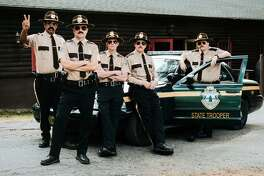 "Leading to ""Tacoma FD"" was the modest success of ""Super Troopers 2"" with, from left, Jay Chandrasekhar, Steve Lemme, Erik Stolhanske, Paul Soter and Kevin Heffernan."