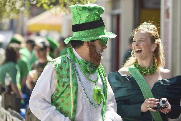 Houston celebrates the 60th Annual St. Patrick's Day Parade on Saturday.