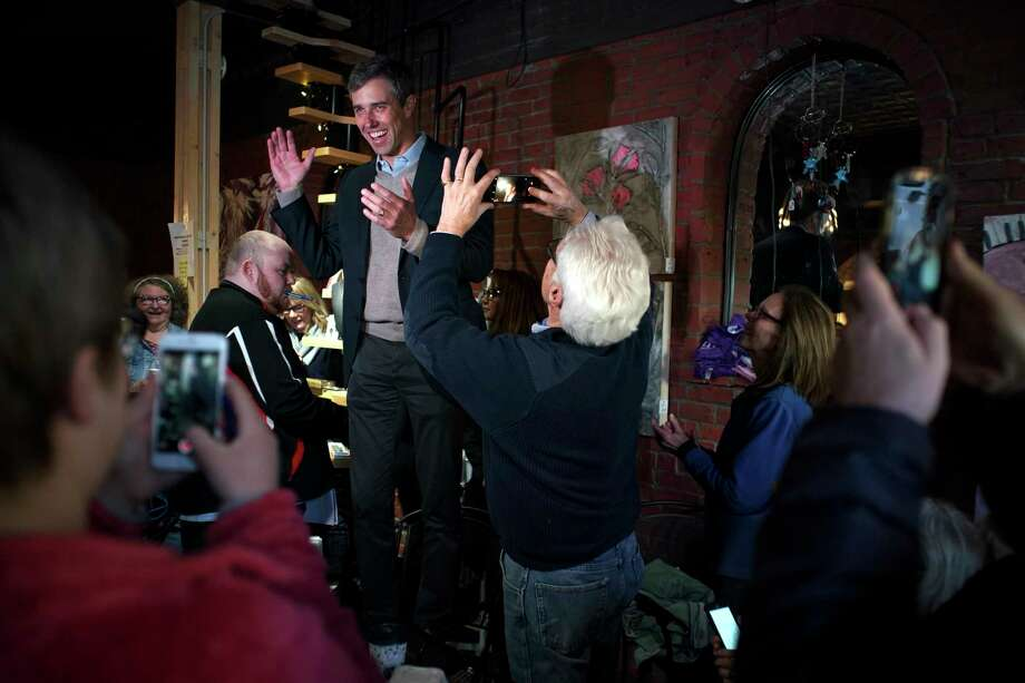 Former Rep. Beto O'Rourke campaigns in Keokuk, Iowa on day one of a planned three-day tour of the state, March 14, 2019. O'Rourke, whose near-miss Senate run in Texas propelled him to Democratic stardom, launched his presidential bid here in a county where Donald Trump beat Hillary Clinton by 16 percentage points in 2016.  Photo: TODD HEISLER, NYT / NYTNS