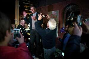 FILE — Former Rep. Beto O'Rourke campaigns in Keokuk, Iowa on day one of a planned three-day tour of the state, March 14, 2019. O'Rourke, whose near-miss Senate run in Texas propelled him to Democratic stardom, launched his presidential bid here in a county where Donald Trump beat Hillary Clinton by 16 percentage points in 2016. (Todd Heisler/The New York Times)