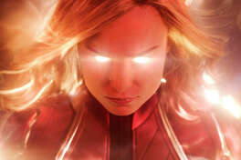 "This image released by Disney-Marvel Studios shows Brie Larson in a scene from ""Captain Marvel."" Marvel's ""Captain Marvel,"" the superhero factory's first movie fronted solely by a female hero, last weekend notched the sixth largest global opening ever and in five days of release has already sold $524.1 million tickets worldwide."