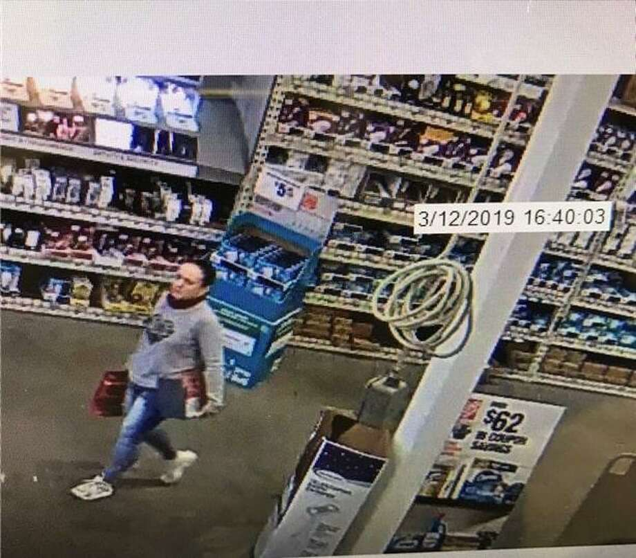 Hamden police are searching for two people suspected of conducting a series of thefts from Home Depot locations in Massachusetts and Connecticut, including on Dixwell Avenue. Photo: Hamden Police Department