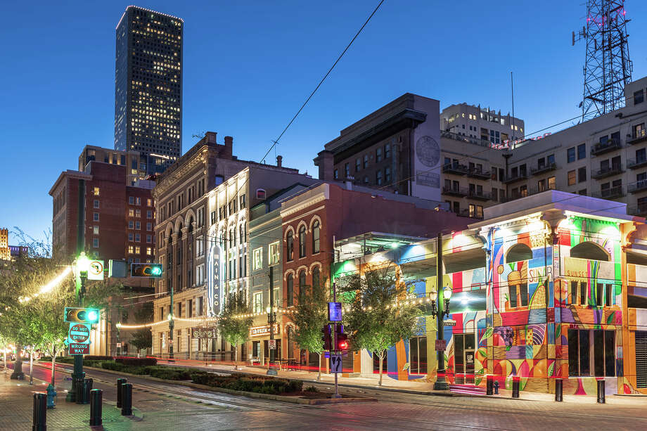 NewForm Real Estate's Main&Co redevelopment at Main and Commerce streets in downtown Houston consists of creative office space, a contemporary art gallery and several cocktail bars. Photo: NewForm Real Estate