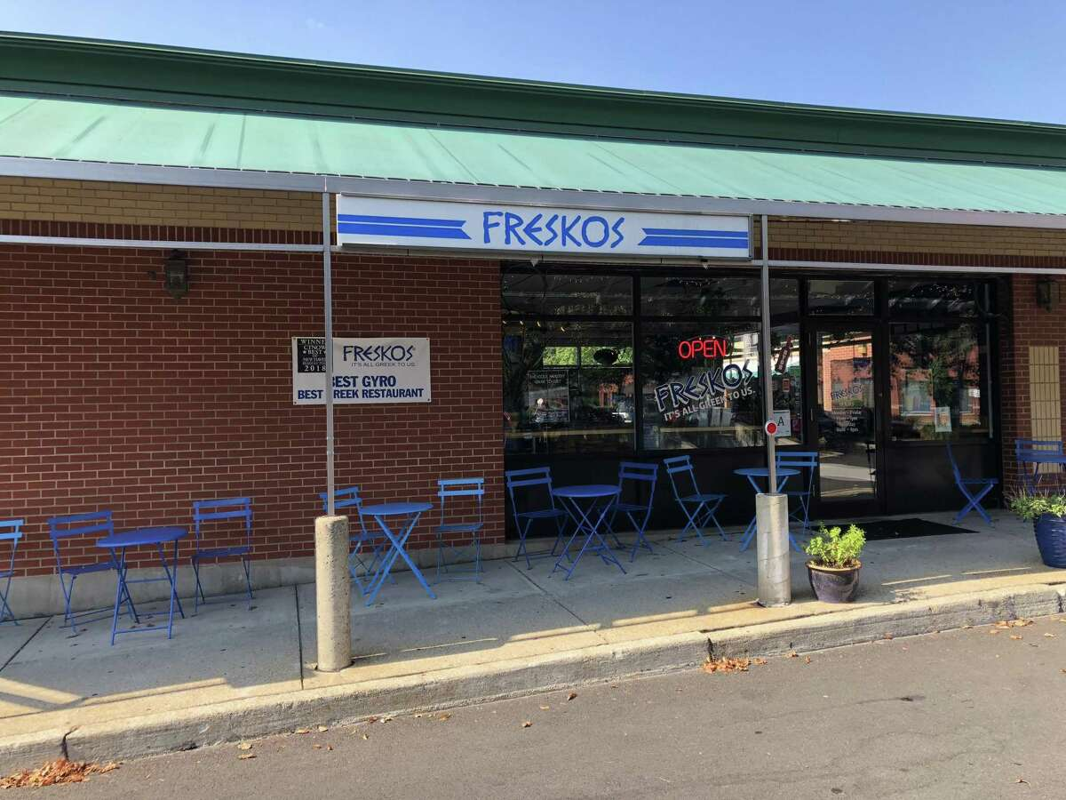 Freskos Greek restaurant in Hamden. The eatery is doing so well the owner has opened a second location on Whitney Avenue in New Haven.