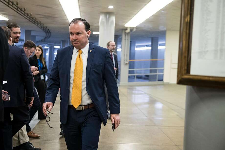 GOP Sen. Mike Lee joined Democrats to cancel President Trump's proclamation of a border emergency — invoked to spend $3.6 billion more for barriers than Congress had approved. Photo: Sarah Silbiger / New York Times