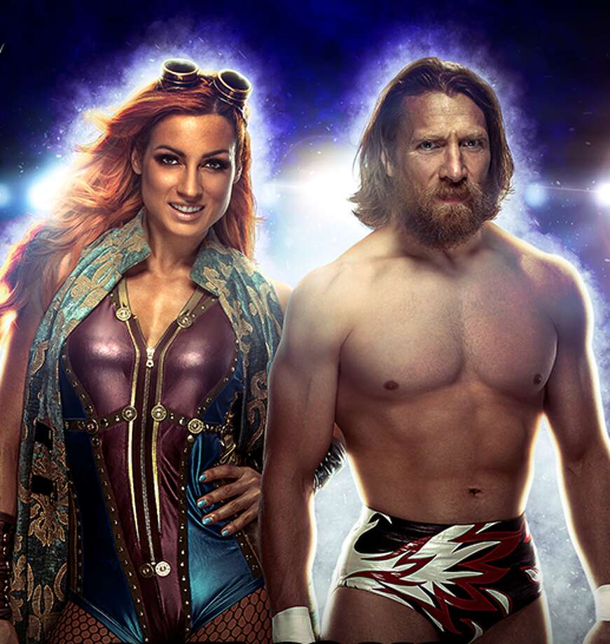 "WWE superstar and self-described ""amateur environmentalist"" Daniel Bryan (right), as well as Becky ""The Man"" Lynch, will attend the Celebrity Fan Fest in San Antonio this summer. Photo: World Wrestling Entertainment, Inc."