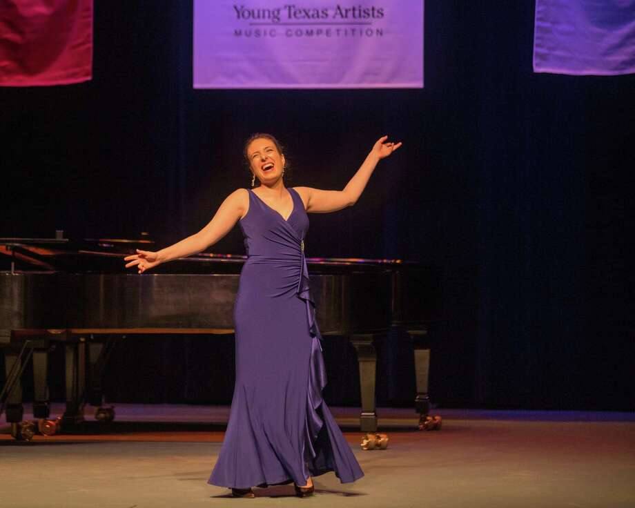 Soprano Bronwyn White performs as a finalist in the 2019 Young Texas Artists Music Competition Finalists Concert on Saturday night at the Crighton Theatre. She received a silver medal. Photo: Photo By DWC Photography