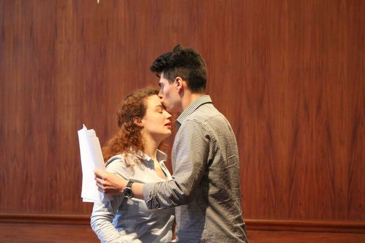 Alexandra Bazan and Max Samuels perform in a recent Play With Your Food production. No costumes or sets are provided.