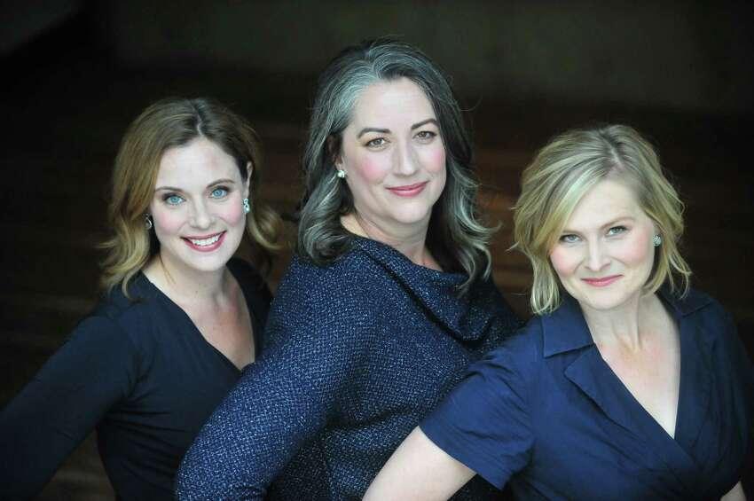 Sylvia Stoner (blond, short hair), Sharon O'Connell Campbell (long dark hair), Anne Jennifer Nash (blue eyes, dark blond shoulder-length hair).