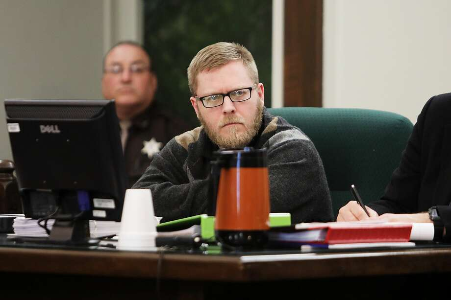 Joel Wallace listens during his trial for the murder of his great-aunt, Victoria Kilbourne, on Tuesday, March 12, 2019 at the Midland County Courthouse. (Katy Kildee/kkildee@mdn.net) Photo: (Katy Kildee/kkildee@mdn.net)