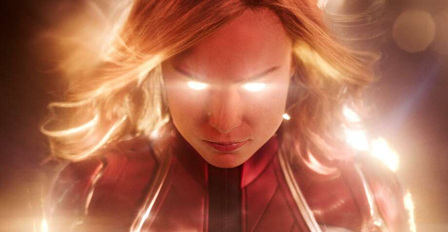 "This image released by Disney-Marvel Studios shows Brie Larson in a scene from ""Captain Marvel."" Photo: Associated Press / Disney-Marvel Studios"
