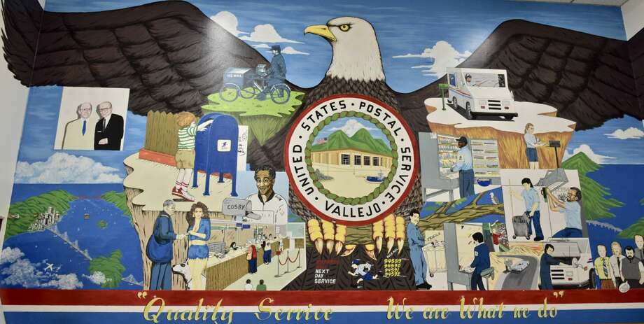 Vic Lorico Bicomong painted this 11-by-20-foot mural in the break room of the Vallejo post office. Click through this gallery for a closer look at all the characters. Photo: Gary Cullen