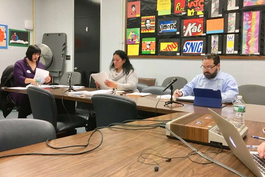 Members of the Bridgeport school board's finance committee. March 13, 2019 Photo: Linda Conner Lambeck