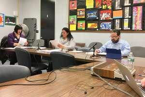 Members of the Bridgeport school board's finance committee. March 13, 2019
