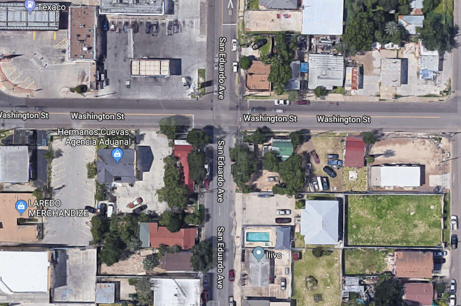Laredo police said a man was stabbed in the area of Washington Street and San Eduardo Avenue on Thursday afternoon. Photo: Google Maps