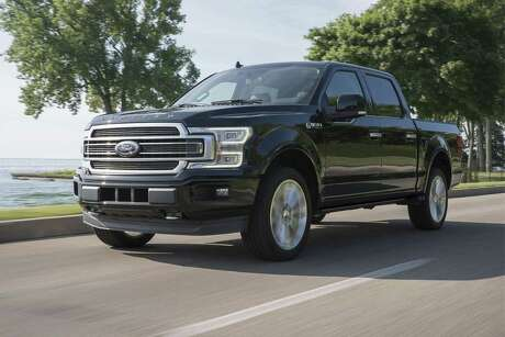 The F-150 Limited comes standard with a trailer brake controller. The truck's 360-degree camera with split-view display makes hooking up a trailer easier. (Ford photo)