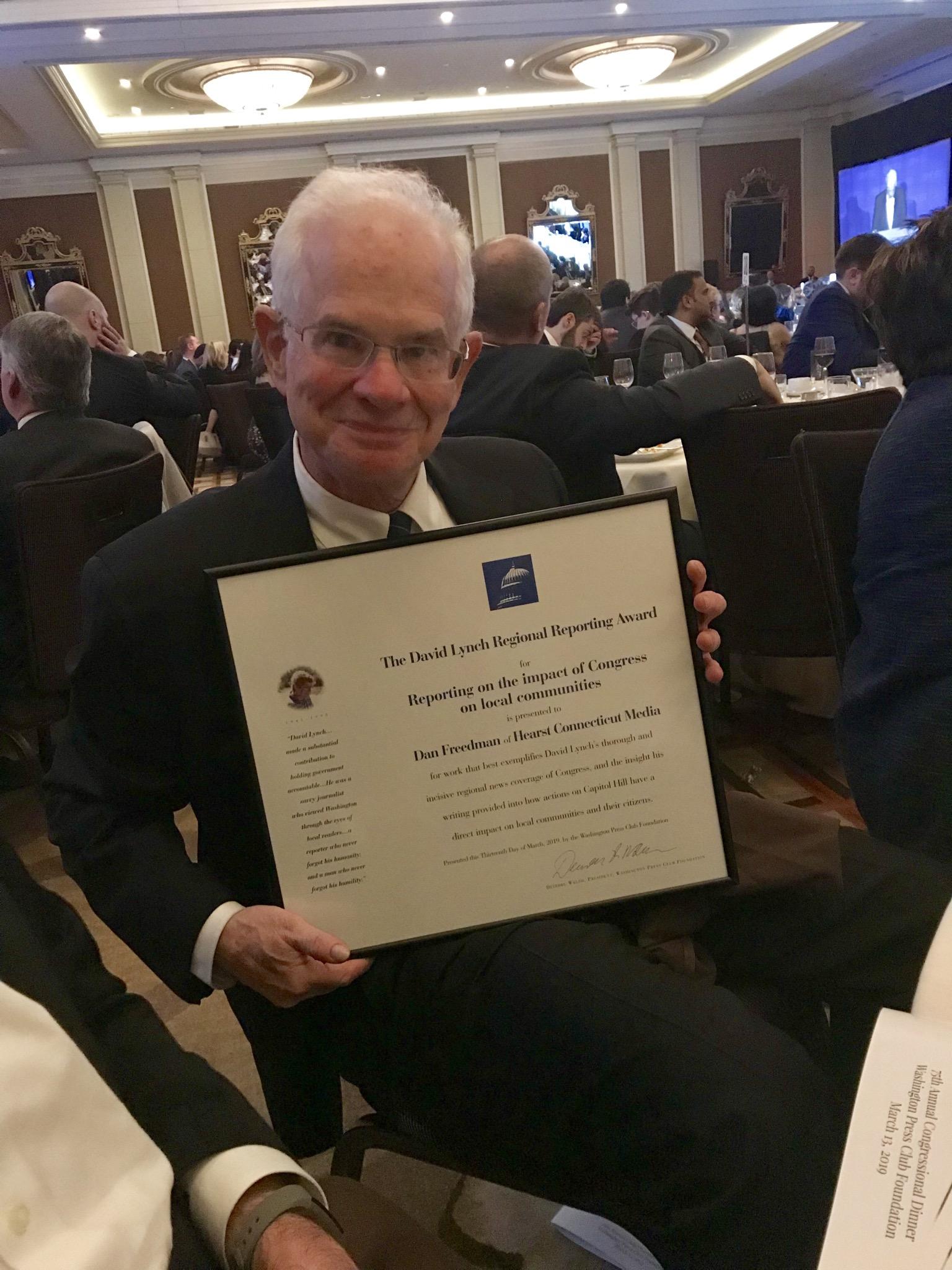 TU's D.C. correspondent wins national award