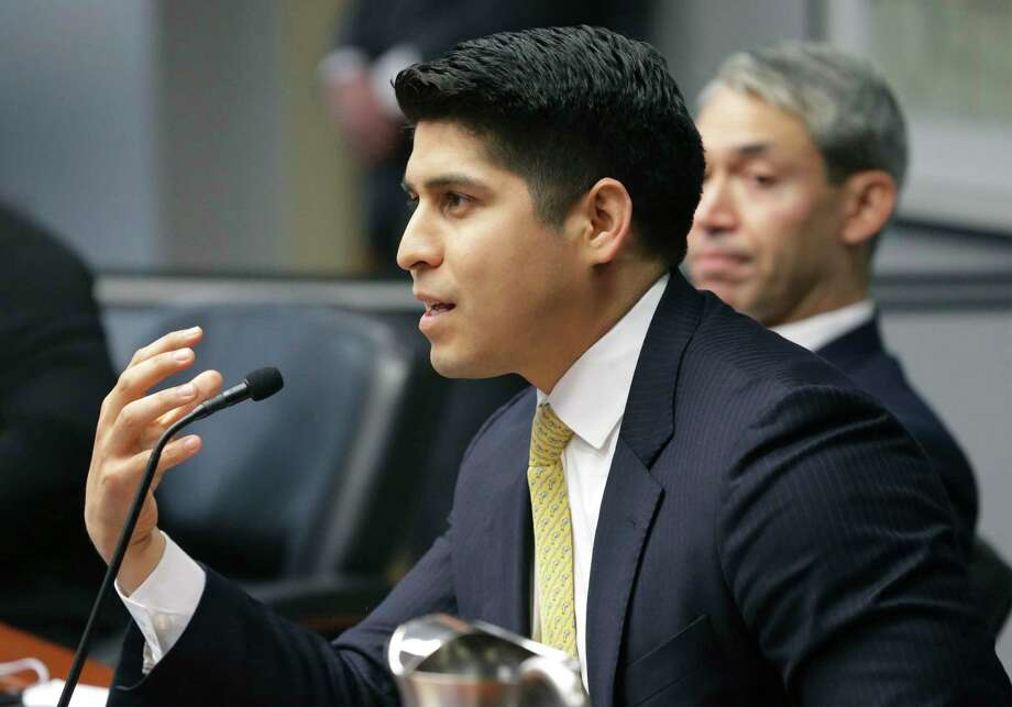 In one of his last moves in office, former District 4 City Councilman Rey Saldaña, who was term-limited, proposed free parking for term-limited former members of council. He has said it was a joke, but it was serious enough to warrant council consideration. Photo: Tom Reel /Staff Photographer / 2019 SAN ANTONIO EXPRESS-NEWS
