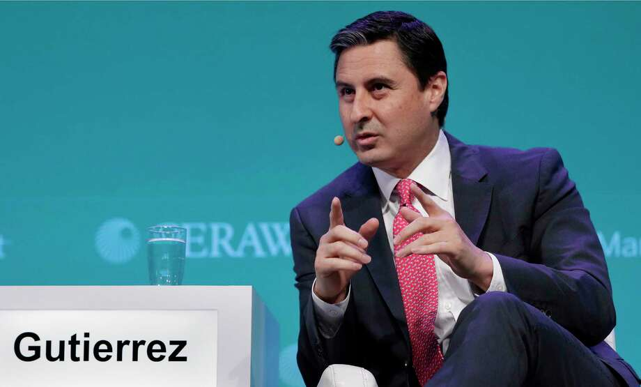 "Mauricio Gutierrez, CEO of NRG Energy, appears at CERAWeek in 2019. His company earned 4.4 billion last year but still hasn't captivated the market. ""We will evaluate all options,"" he said, including taking the company private. Photo: Michael Wyke, Houston Chronicle / Contributor / © 2019 Houston Chronicle"