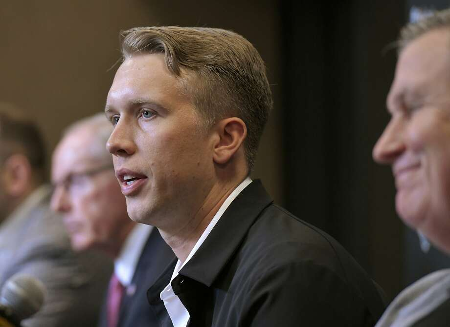 Nick Foles meets the media in Jacksonville, Fla., om Thursday. Photo: Will Dickey / Associated Press