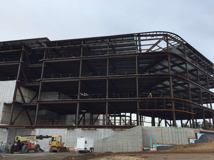 Construction on the steel structure of UAlbany's new $180 million Emerging Technology and Entrepreneurship Complex (ETEC) is complete - less than a year after ground was broken.