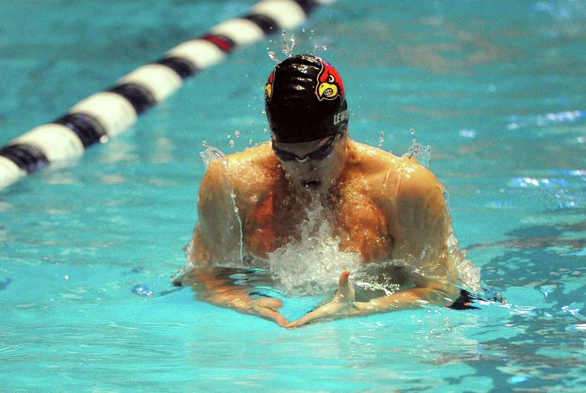 Greenwich's Thomas Lewis competes in the 200-meter IM during State Open Thursday night in New Haven. For story and photos visit gametimect.com/