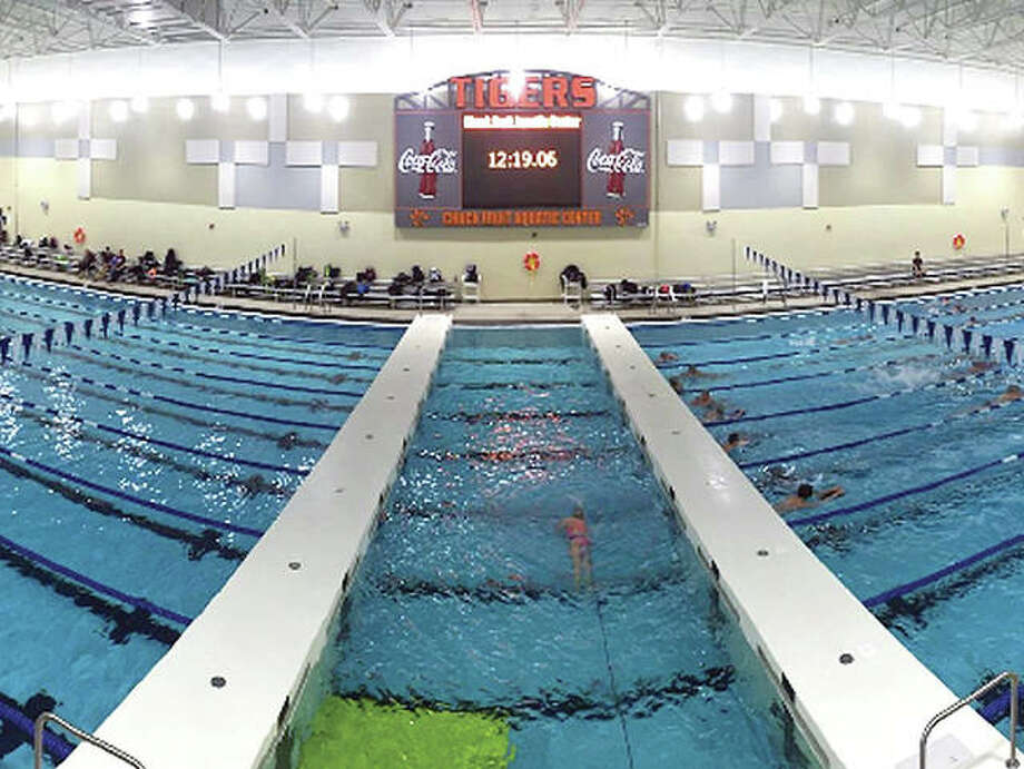 Some 575 swimmers from 27 teams throughout Southern Illinois and all of Missouri will converge on the Chuck Fruit Aquatic Center at Edwardsville High School this weekend for the Heartland Area YMCA Swim Championships. Photo: Telegraph File Photo