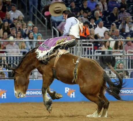 Hat's off to Kaycee Feild, who finished fourth in Thursday's saddle bronc riding semifinal to make the RodeoHouston finals.
