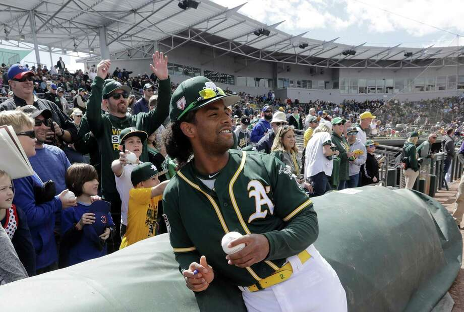 "A's designated hitter Khris Davis is all about the food. Seriously. ""I like eating a good bowl of ramen,"" he said. Photo: Elaine Thompson / Associated Press / Copyright 2019 The Associated Press. All rights reserved"