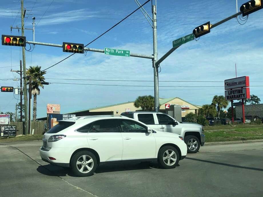Intersection of Northpark Drive and Russell Palmer Road. Photo: Nguyen Le / Staff Photo