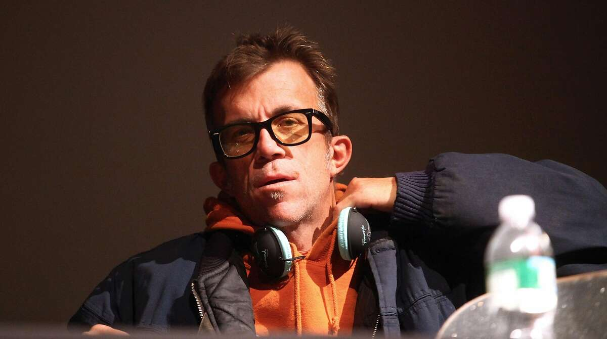 Editor in chief of Thrasher magazine Jake Phelps talks at the Museum of Modern Art on Oct. 15, 2009 in New York City.