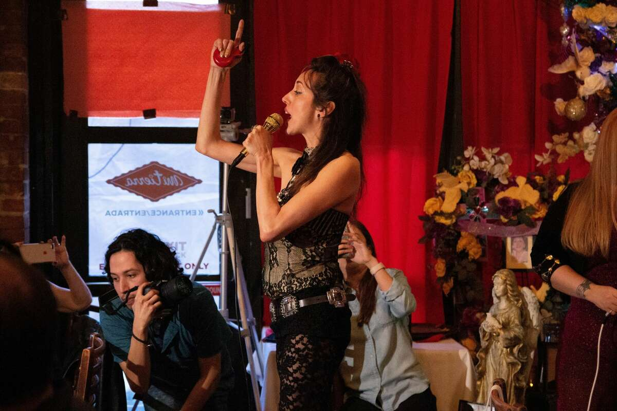 Tejano Music Awards' Fan Fair festival goers, Spring Breakers and guests at Mi Tierra were treated to a surprise tribute to the Queen of Tejano Thursday evening.