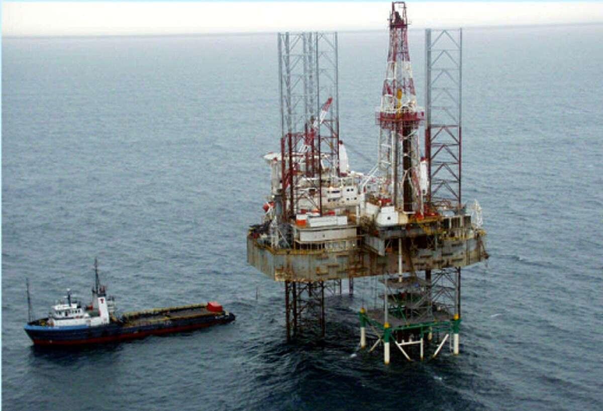 Offshore rig off the coast of Nigeria.