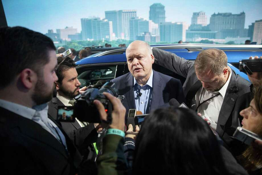 Forde CEO Jim Hackett speaks to the media during the 2019 North American International Auto Show in Detroit on Jan. 14, 2019. Photo: Bloomberg Photo By Daniel Acker. / © 2019 Bloomberg Finance LP