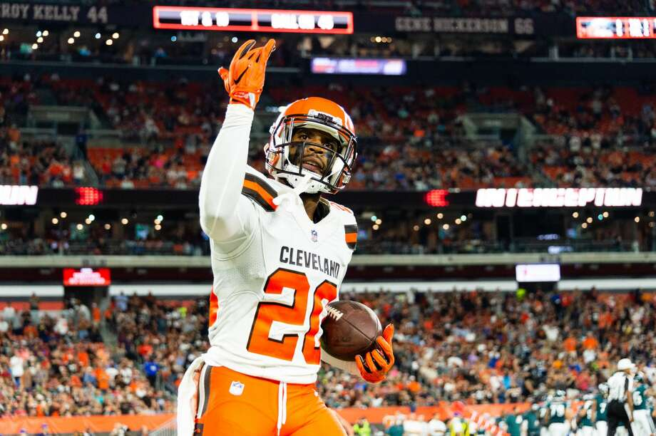PHOTOS: NFL's best available free agents  CLEVELAND, OH - AUGUST 23: Briean Boddy-Calhoun #20 of the Cleveland Browns celebrates after an catching an interception during the first half of a preseason game against the Philadelphia Eagles at FirstEnergy Stadium on August 23, 2018 in Cleveland, Ohio. (Photo by Jason Miller/Getty Images) >>>See which players remain available ...  Photo: Jason Miller/Getty Images