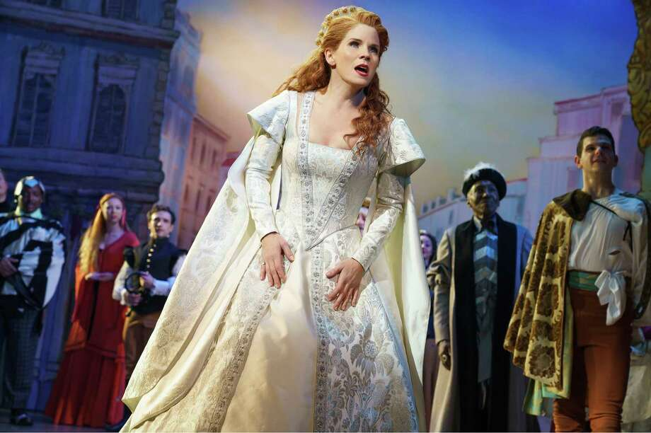 "Kelli O'Hara in ""Kiss Me, Kate."" Photo: Joan Marcus / Joan Marcus"