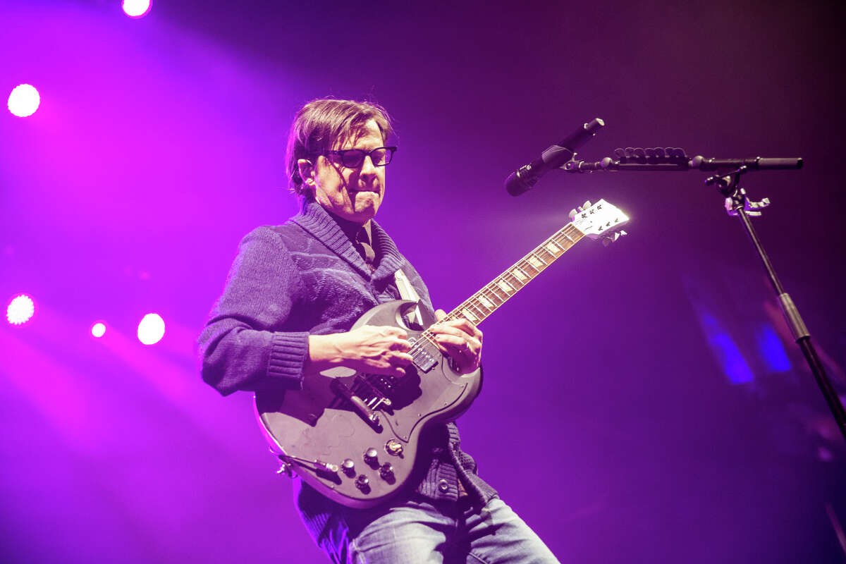 Rivers Cuomo performs with Weezer at the Times Union Center on Thursday, March 14, 2019.